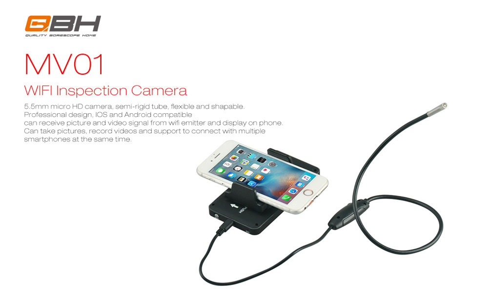 Wifi Transmission Function 5.5mm probe Usb Borescope Camera Review